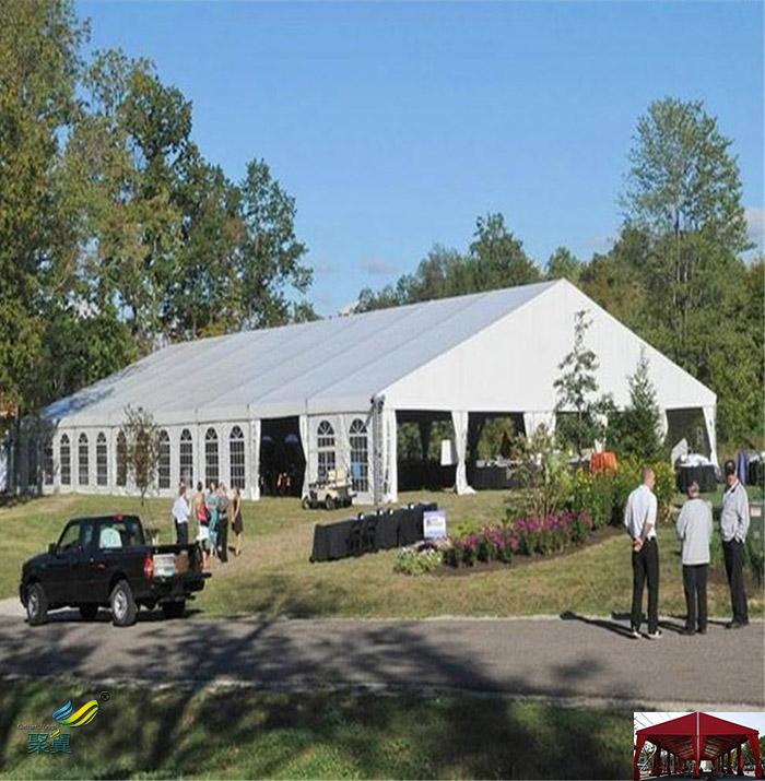 户外搭建膜结构帐篷防风篷房灵活性透光性