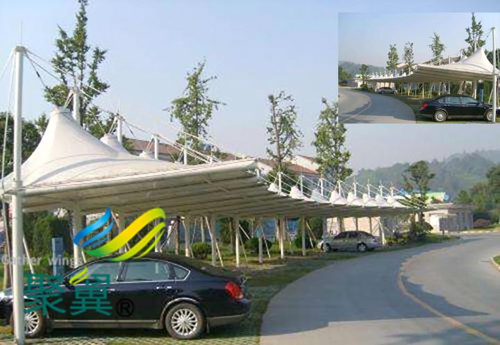 充电桩膜结构车棚安装|汽车停车棚结构设计