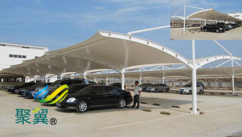 膜结构车棚防火性与抗震性|膜结构遮阳棚轻型结构棚