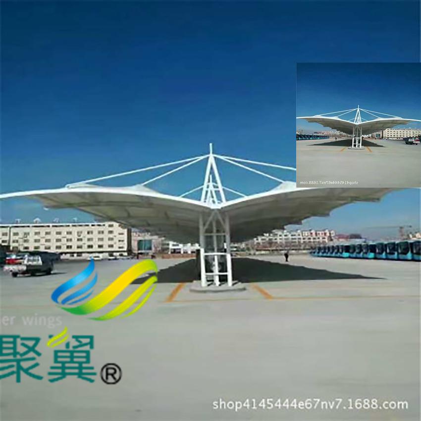 聚翼膜结构车棚优势|膜结构停车棚特点