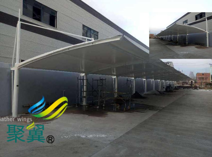 膜结构车棚应该安装|汽车停车棚结构设计
