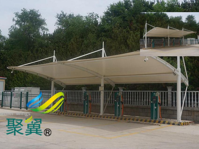 膜结构汽停车棚7字形安装施工注意事项