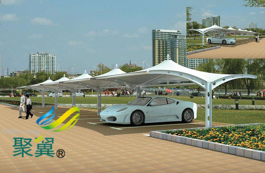 膜结构停车棚主要功能作用|造型设计大方好看
