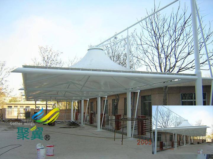 膜结构车棚建筑环境特征|多新型膜材