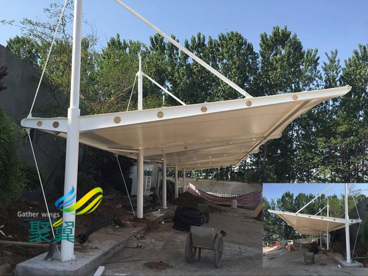 膜结构车棚传统建筑风格模式|透光性