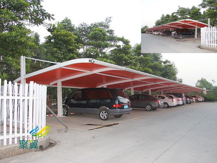 膜结构车棚造型丰富多彩|膜材外观洁净美观