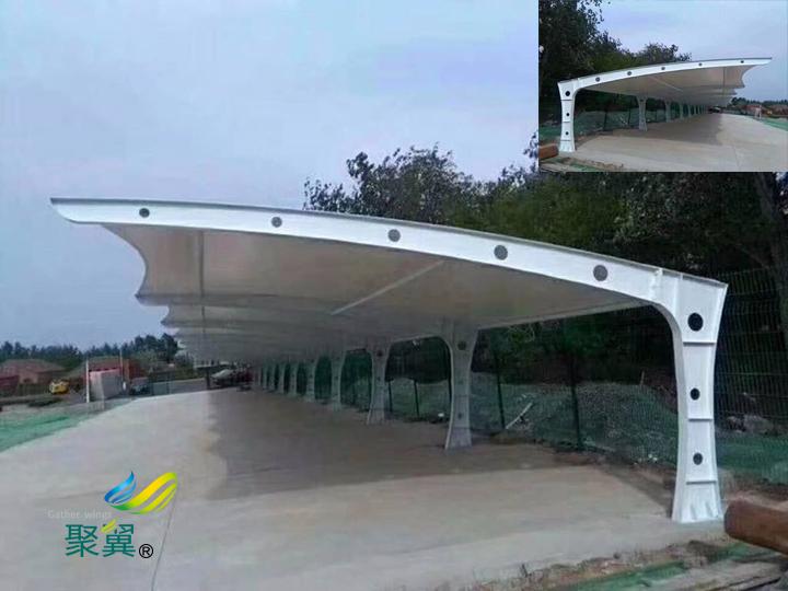 膜结构车棚公共自行车棚优势|膜结构特点