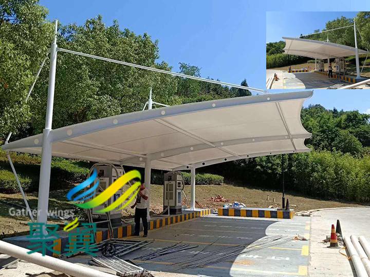 膜结构汽车停车棚特点有哪些|设计包安装