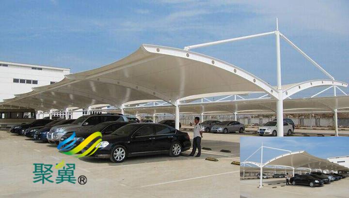 膜结构汽车棚顶棚面料 膜结构汽车顶棚面料优点
