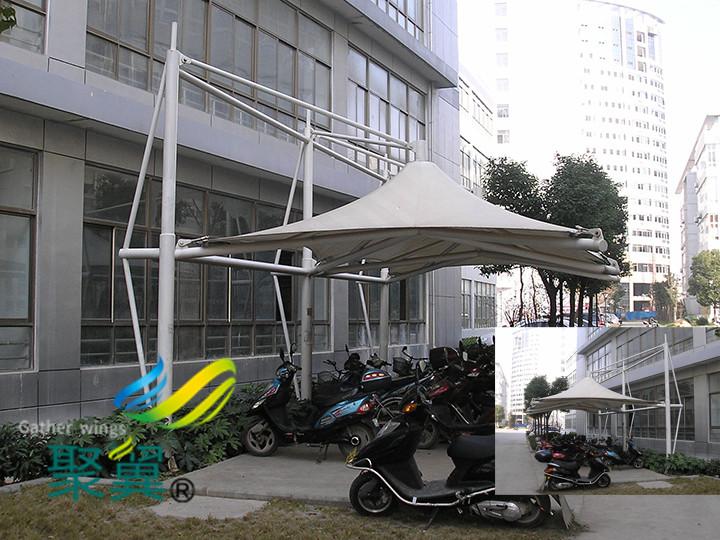 膜结构电瓶车雨棚汽车棚遮阳棚功能区别外结构有何不同