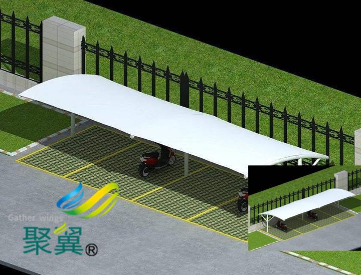 膜结构汽车停车棚使用后提供哪些不错特点