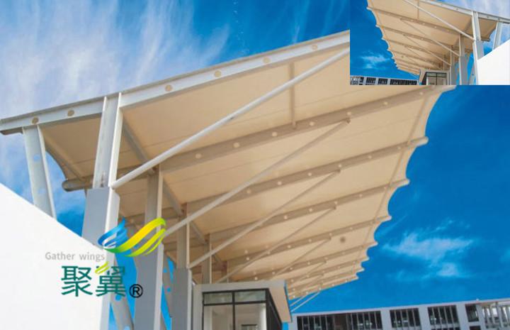 膜结构汽车停车棚公司施工方法 展示膜效果