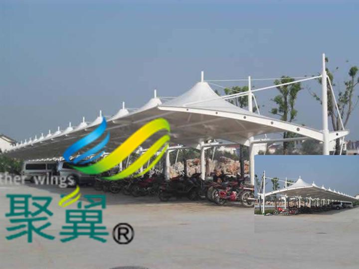 上海膜结构车棚搭建材料|车棚顶棚简单结构形式