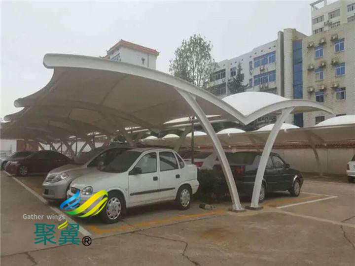 膜结构车棚建筑的造价预算|车棚价格在30-80元每平