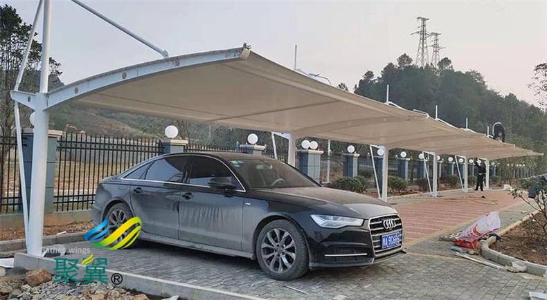 膜结构汽车停车棚雨棚工艺原理及操作要点