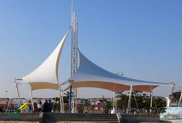 上海广场景观张拉膜结构设计